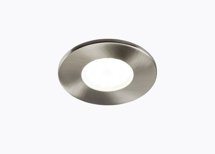 Fire Rated GU10 Downlight Fixed Brushed Chrome  - ID 10922