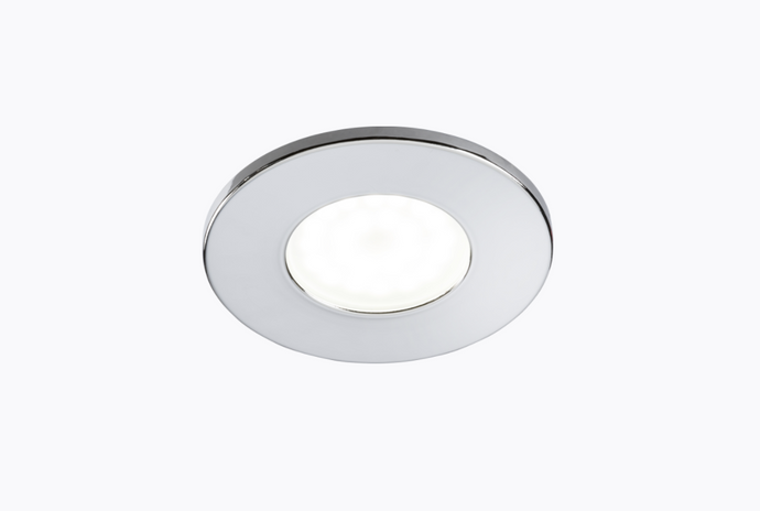 Fire Rated GU10 Downlight Fixed Polished Chrome  - ID 10923