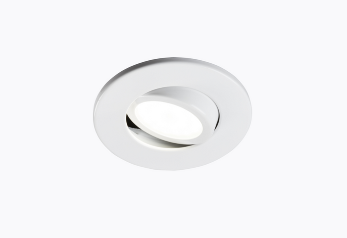 Fire Rated GU10 Downlight Tilting White  - ID 10924
