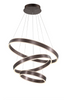 Ador Triple Bronze Hoop LED Pendant - ID8612