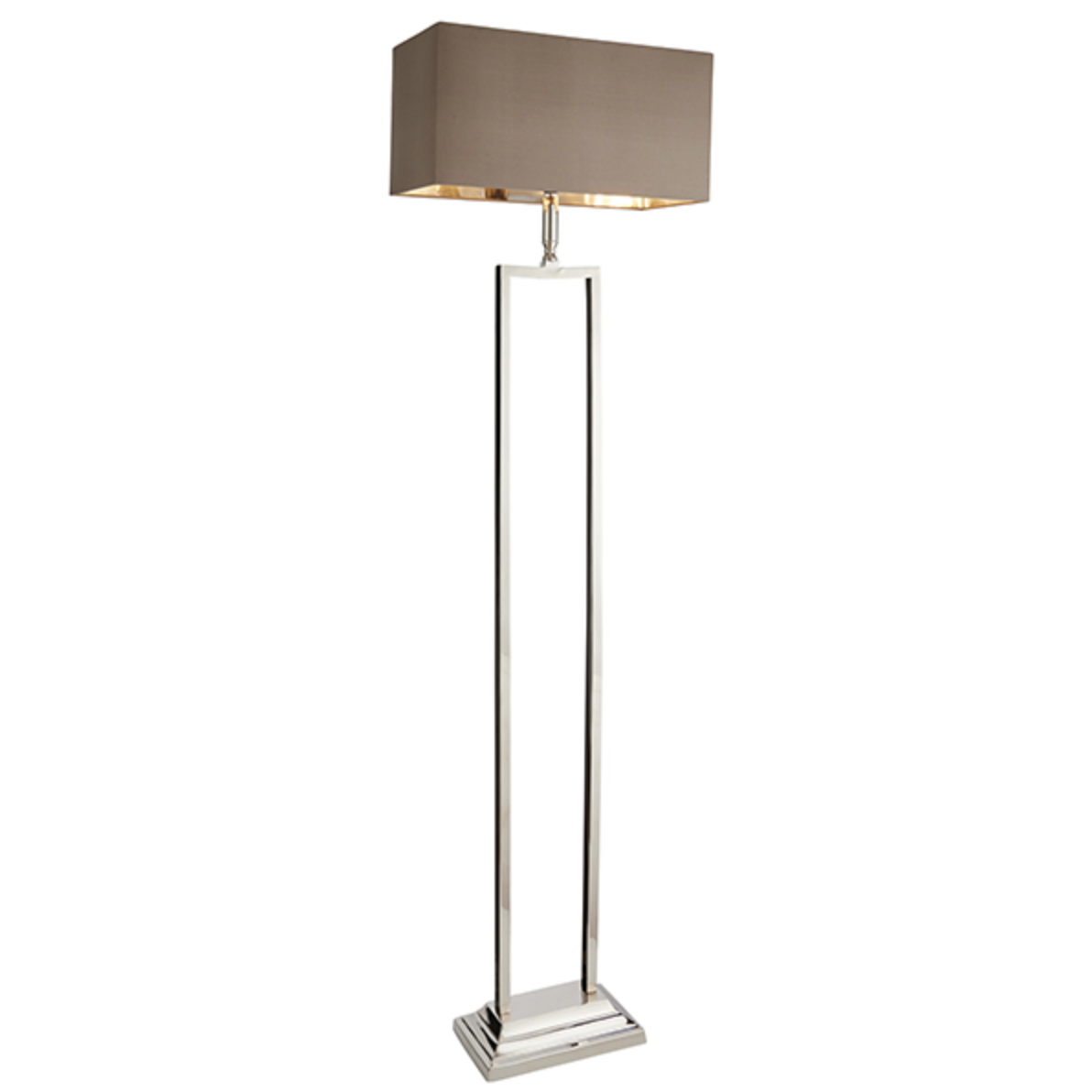 Polished Nickel Rectangular Floor Lamp - ID 6591