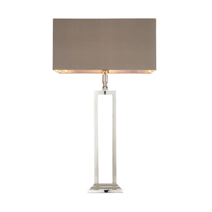Polished Nickel Rectangular Table Lamp - ID 7724