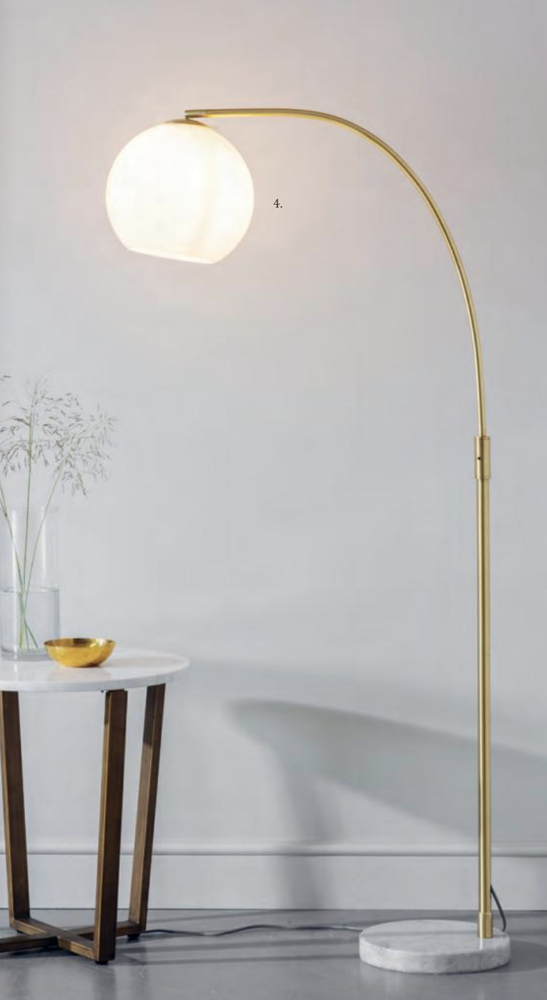 Coney Floor Standing Lamp with Opal Glass globe ID8905