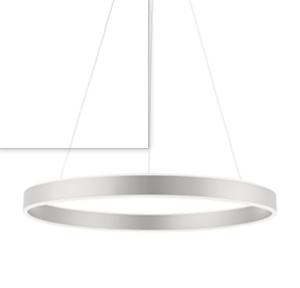 MBL Eden Matt White Up+downlight LED Ring Pendant ID 8957
