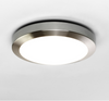 Brushed Nickel & Frosted Glass Flush Ceiling Light - ID 6620
