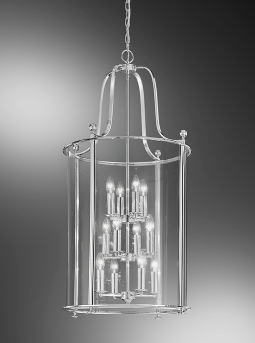 Nethy 12 Lamp Chrome Lantern - ID 9320