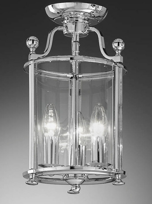 Nethy 3 Lamp Chrome Flush Lantern - ID 6216