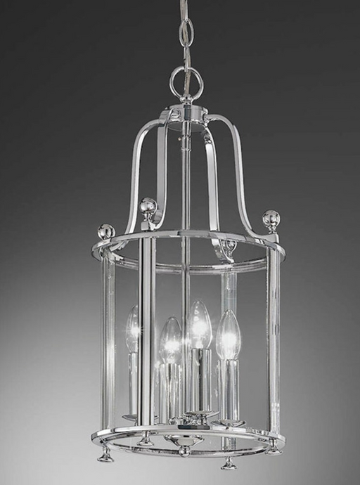 Nethy 4 Lamp Chrome Lantern - ID 9319