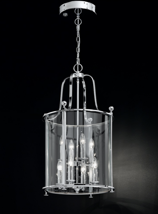Nethy 8 Lamp Chrome Lantern - ID 9321