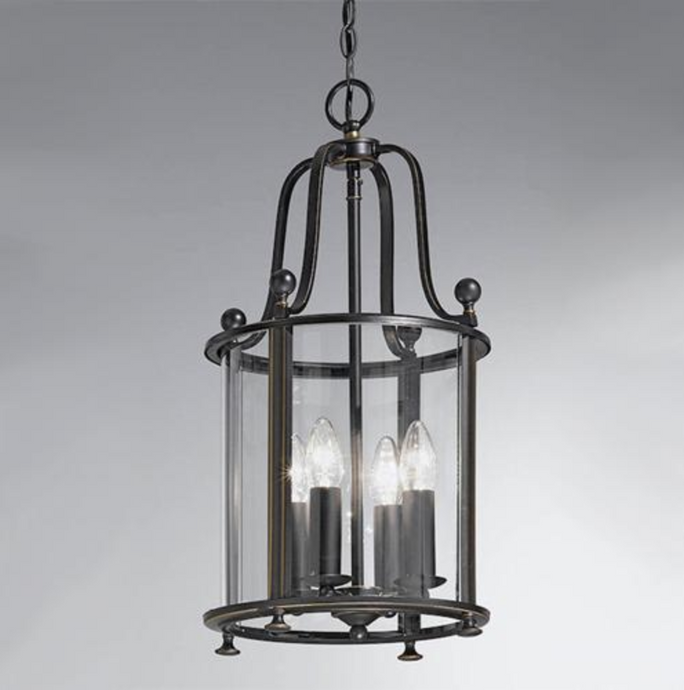 Nethy 4 Lamp Lantern Antique Bronze - ID 9323