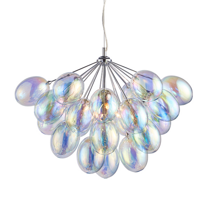 Handa 6 Light Iridescent Bubble Pendant - ID 8935