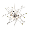 Abstract Clear Glass Rod Chandelier - ID 9633