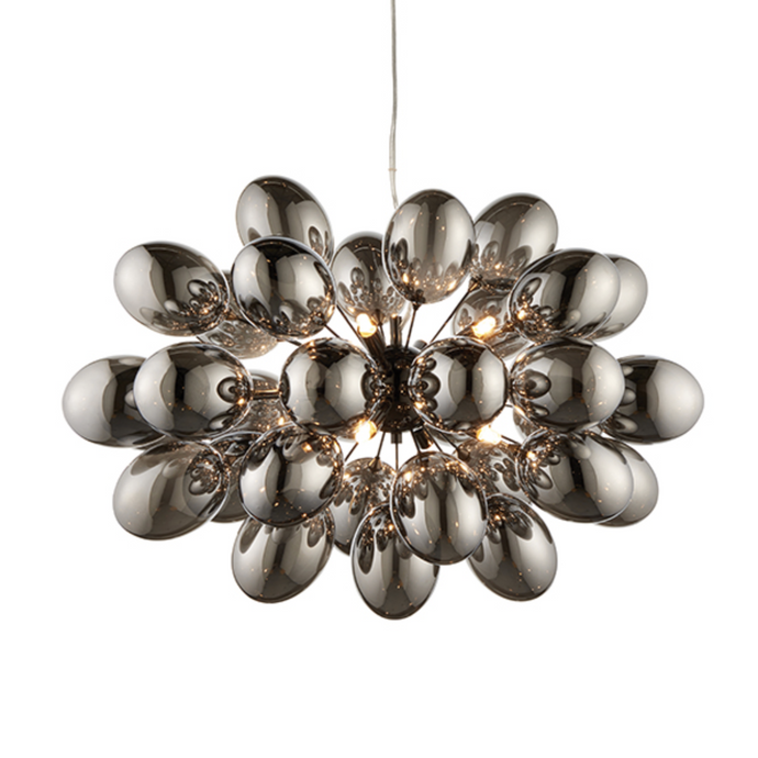 Handa 9 Lamp Black Chrome Bubble Pendant - ID 9635
