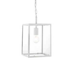 White Square Box Lantern - ID 9645