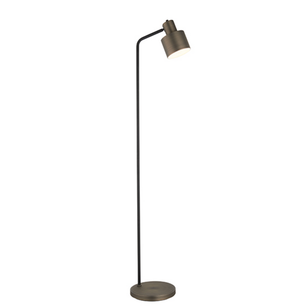 Black and Bronze Floor Lamp - ID 9646