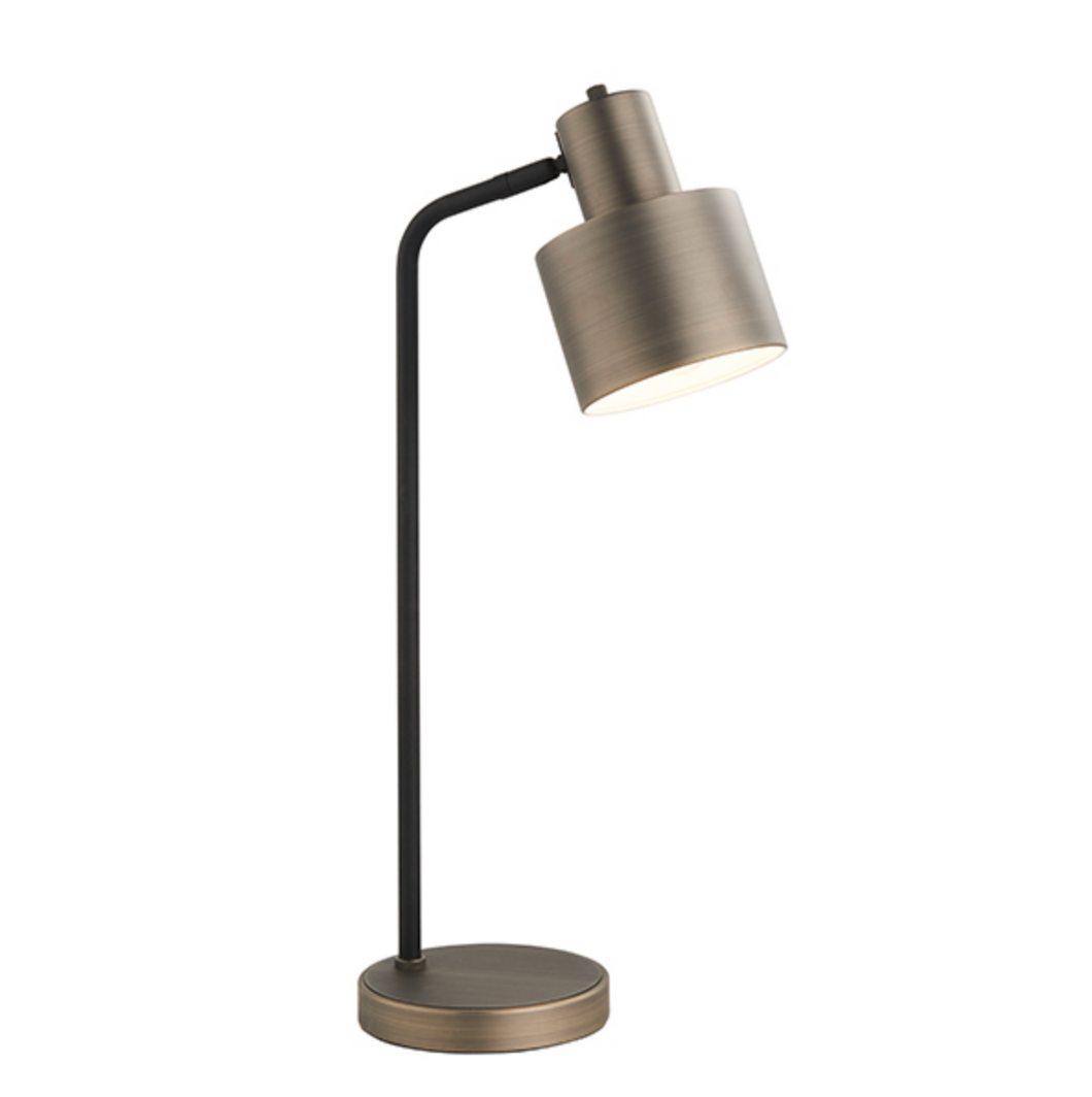 Black and Bronze Table Lamp - ID 9647