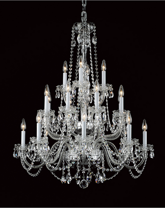 Georgian Strass Crystal 20 Lamp 80cm Chandelier - ID 9702