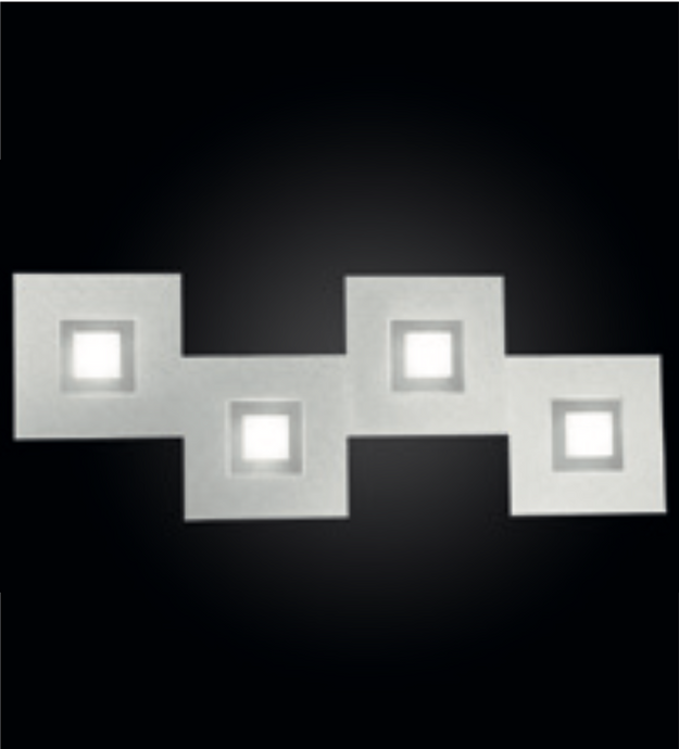 Grossmann KARREE Aluminium Four Lamp Wall / Ceiling Light - Colour Frame Options