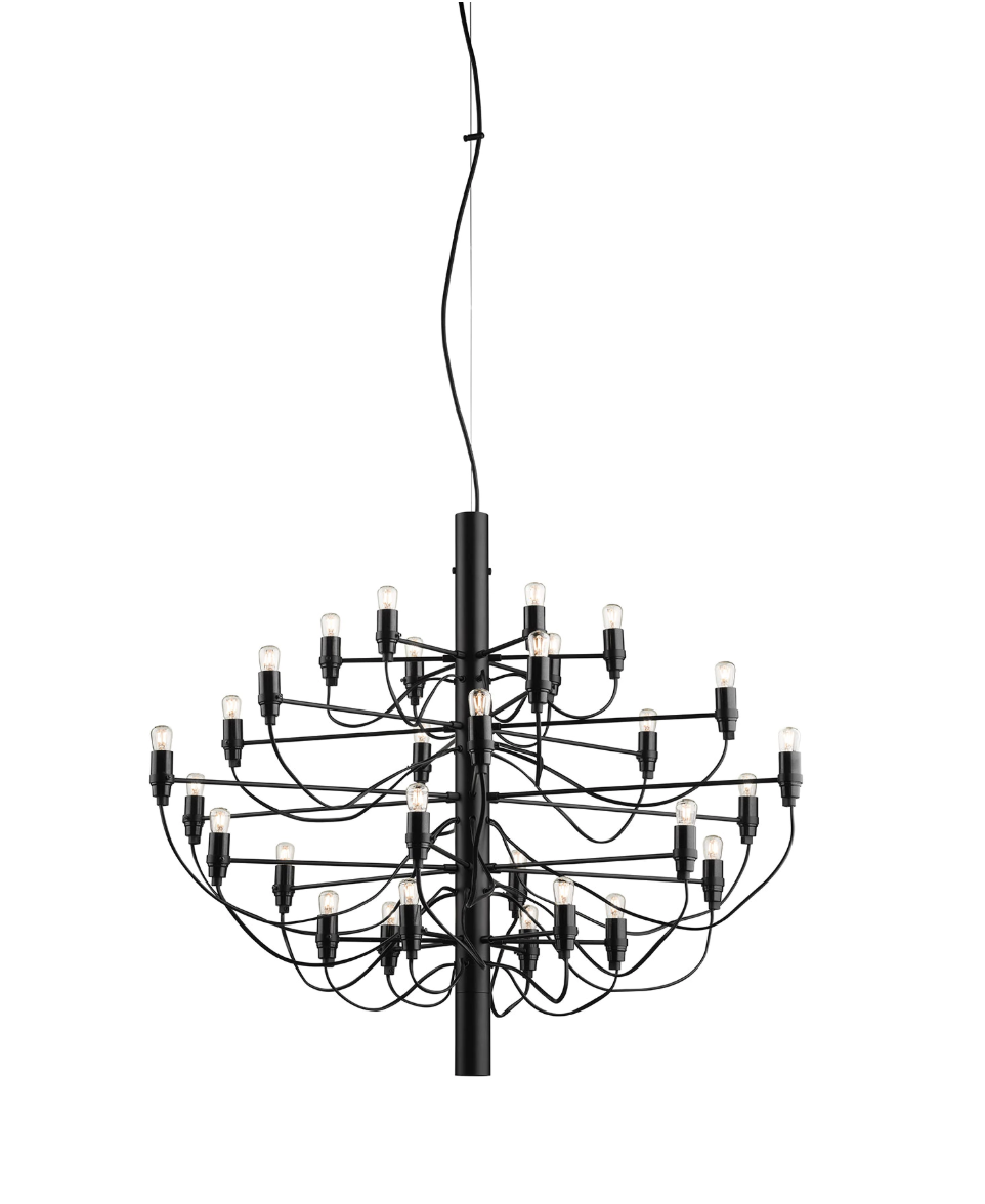 FLOS 2097/30 Suspension In Matt Black With Frosted LED Bulbs Included - ID 9895