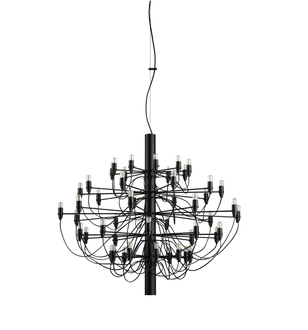 FLOS 2097/50 Suspension In Matt Black With Frosted LED Bulbs Included - ID 9901