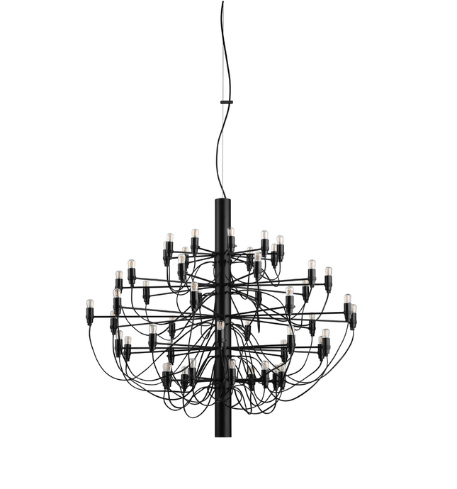 FLOS 2097/50 Suspension In Matt Black With Clear LED Bulbs Included - ID 9898