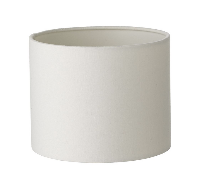 Ivory cotton drum shade 15cm diameter x 12cm height - ID 9929
