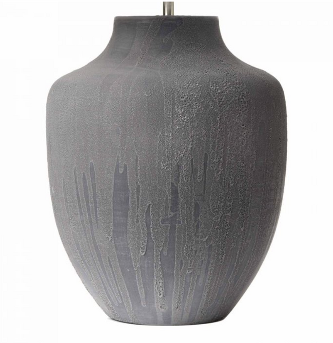 Textured Grey Table Light Base Only - ID 6596