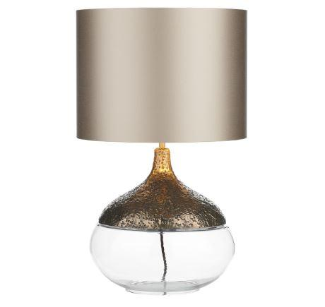 Teardrop Bronze & Glass Table Light Base Only - ID 10256