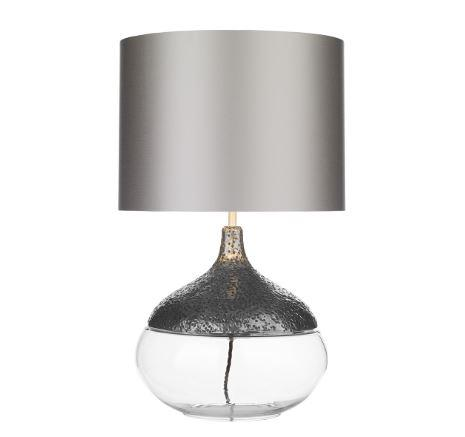 Teardrop Pewter & Glass Table Light Base Only - ID 10257