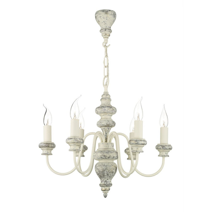 Verona Grey 6 Arm Chandelier - ID 8730