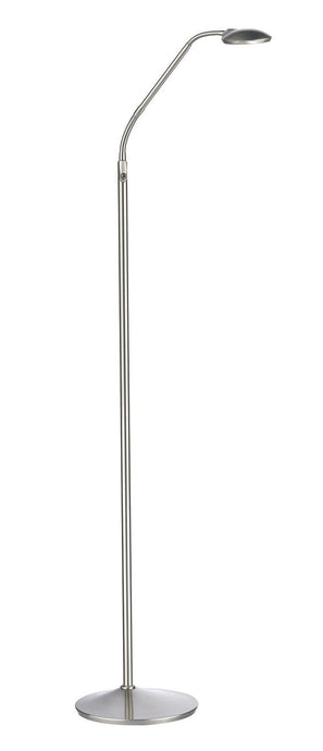 Wellington LED Floor Lamp in Satin Chrome - London Lighting - 1