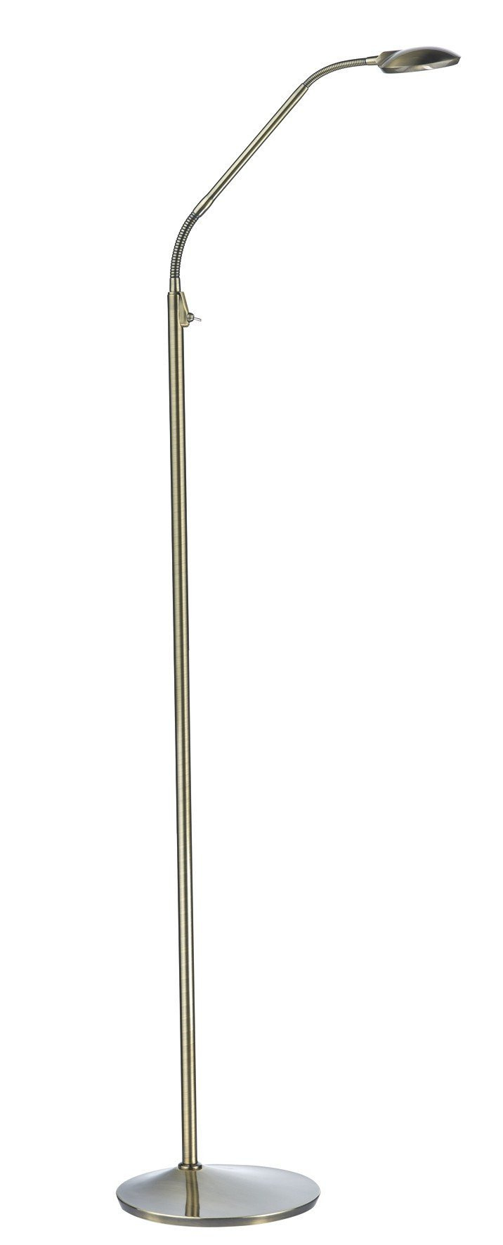 Wellington LED Floor Lamp in Antique Brass - London Lighting - 1