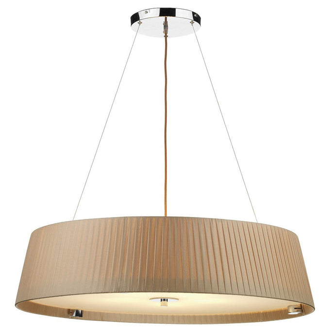 Wheel Taupe 5 Lights Pendant Light - London Lighting - 1