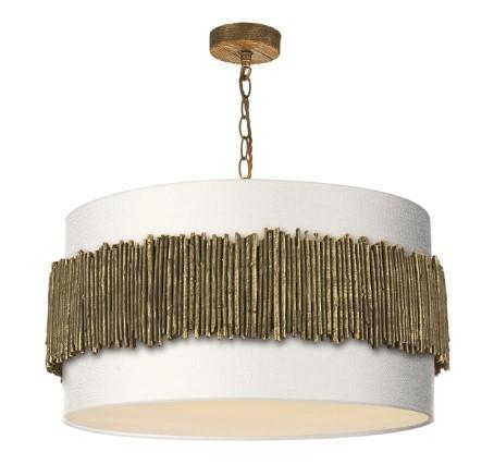 Willow Pendant With Bone Linen Shade (other shade colours available) - ID 10266