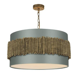 Willow Pendant With Copper Oxide Satin Drum Shade (other shade colours available) - ID 10267