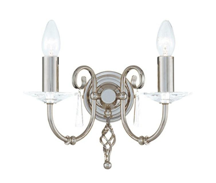 Aegean 2Lt Wall Light Polished Nickel - London Lighting - 1