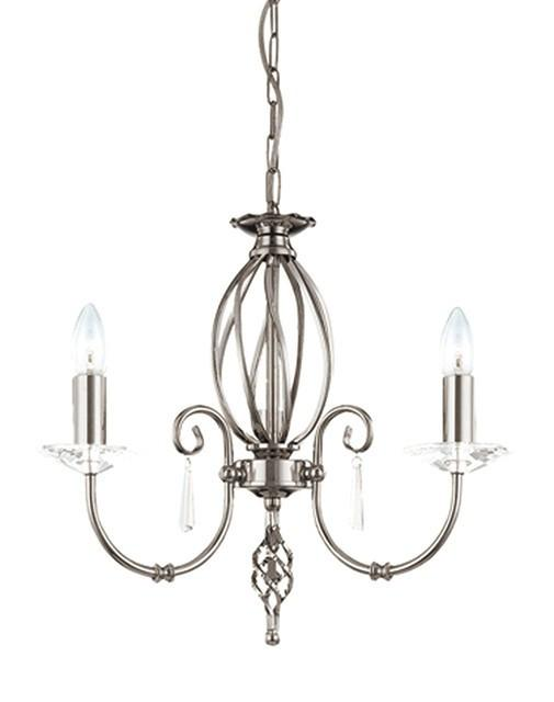Aegean 3Lt Chandelier Polished Nickel - London Lighting - 1