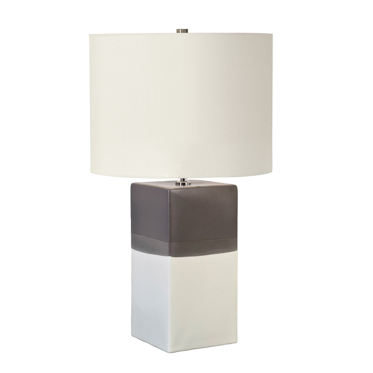 Cream Ceramic Table Lamp With Light Grey Shade - ID 9394