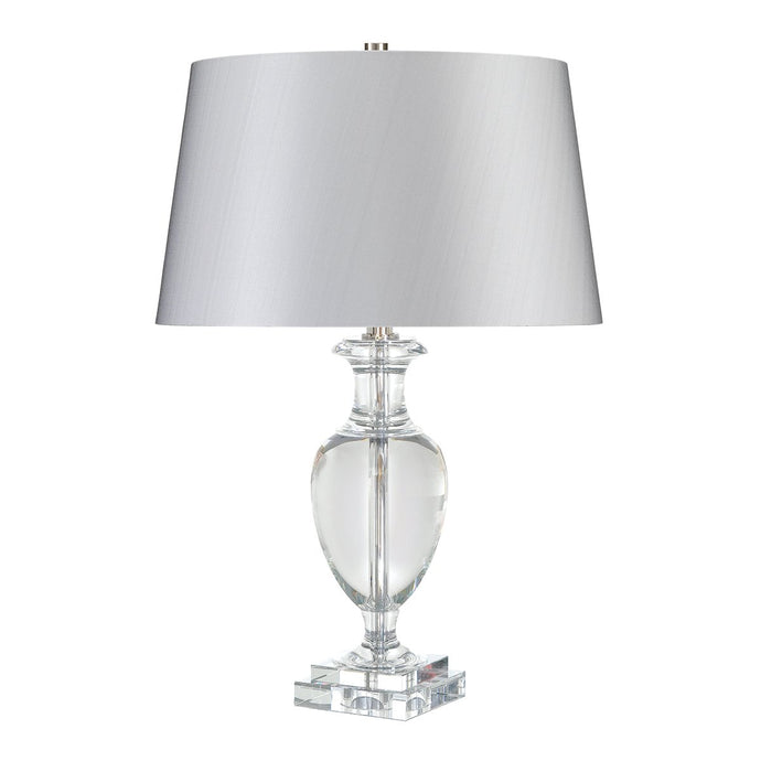 Angel Clear Crystal  Table Lamp c/w Silver Shade - ID 7999