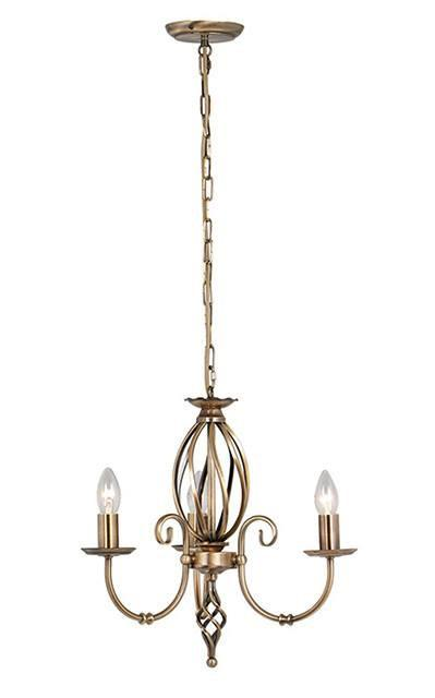 Artisan 3 Arm Chandelier - London Lighting - 1