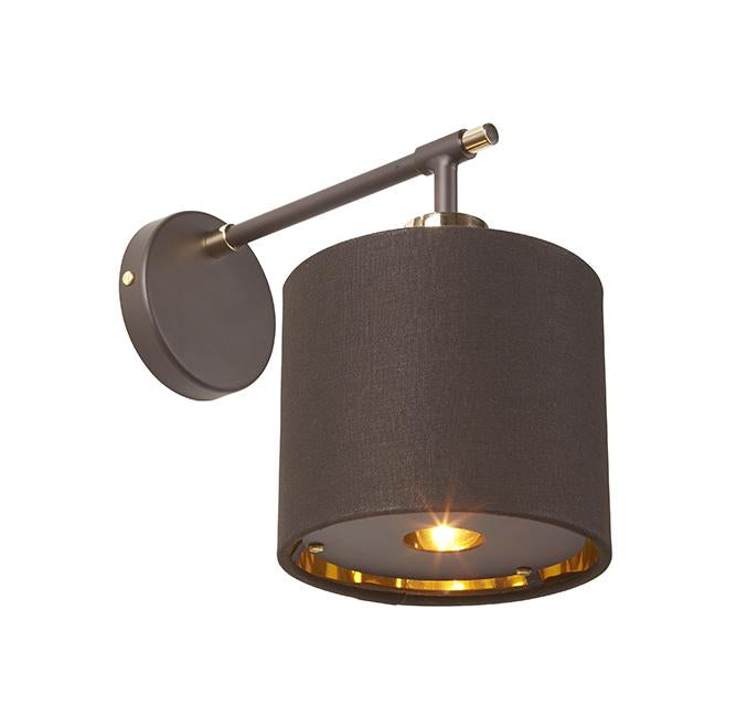 Balance Wall Light Brown and Polished Brass