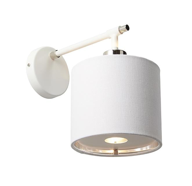 Balance Wall Light White and Polished Nickel