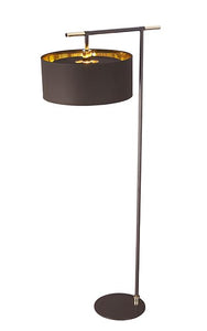 Balance Floor Lamp Brown and Polished Brass