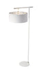 Balance Floor Lamp White and Polished Nickel