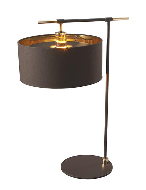Balance Table Lamp Brown and Polished Brass