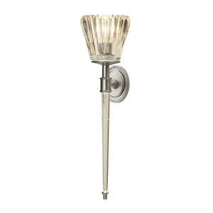 Agatha Two Light Bathroom Wall Light Brushed Nickel