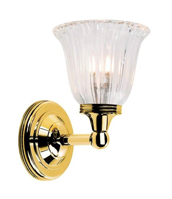 Austen1 Bathroom Wall Light in Polished Brass - London Lighting - 1
