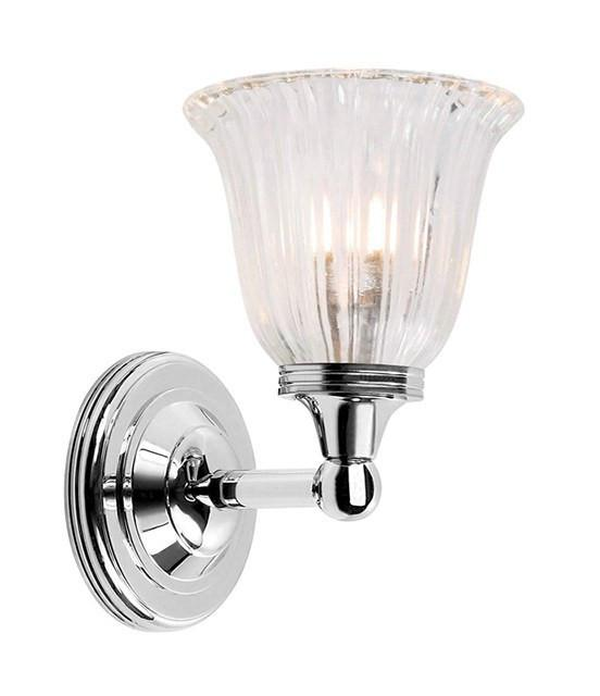Austen1 Bathroom Wall Light in Polished Nickel - London Lighting - 1