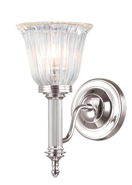 Bathroom Carroll1 Polished Nickel - London Lighting - 1
