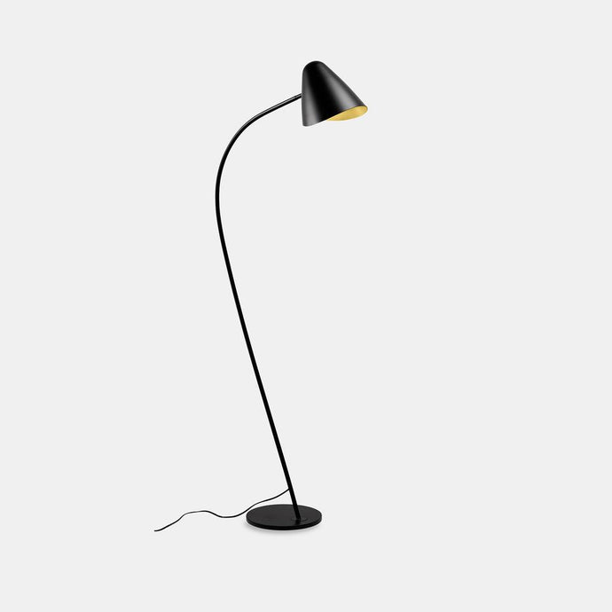 GAN Black Aluminium & Gold Adjustable Floor Light - ID 10727